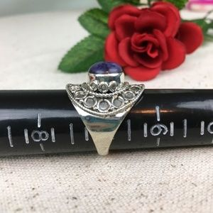 Kaki Jo's Closet Jewelry - Utah Tiffany Stone Sterling Silver Ring